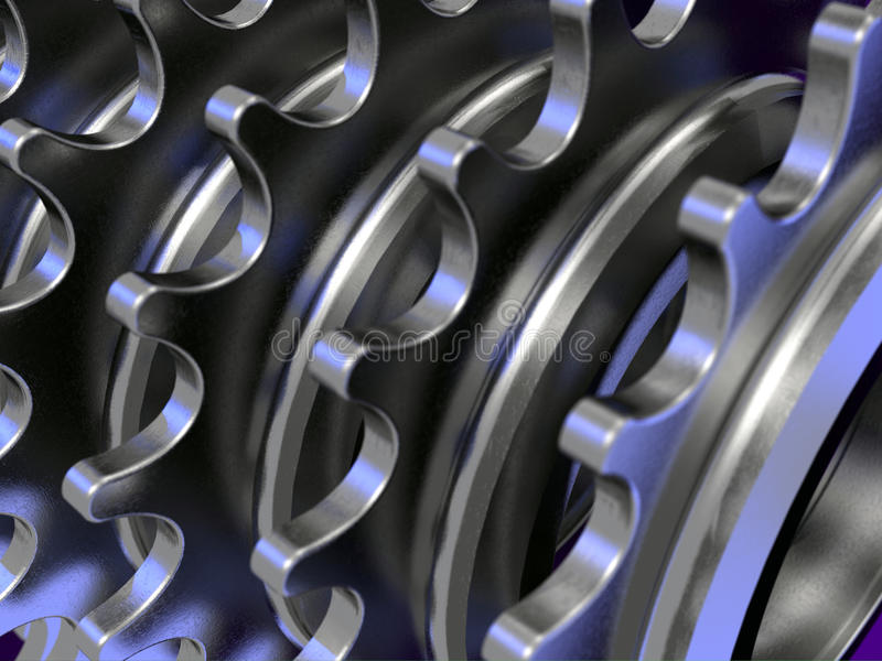 Chain Gears stock image