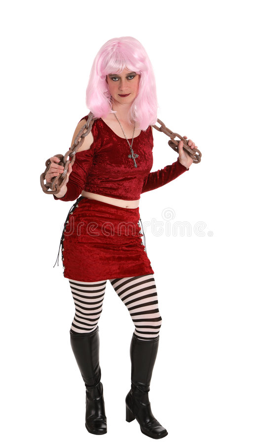 Chain Girl royalty free stock photography