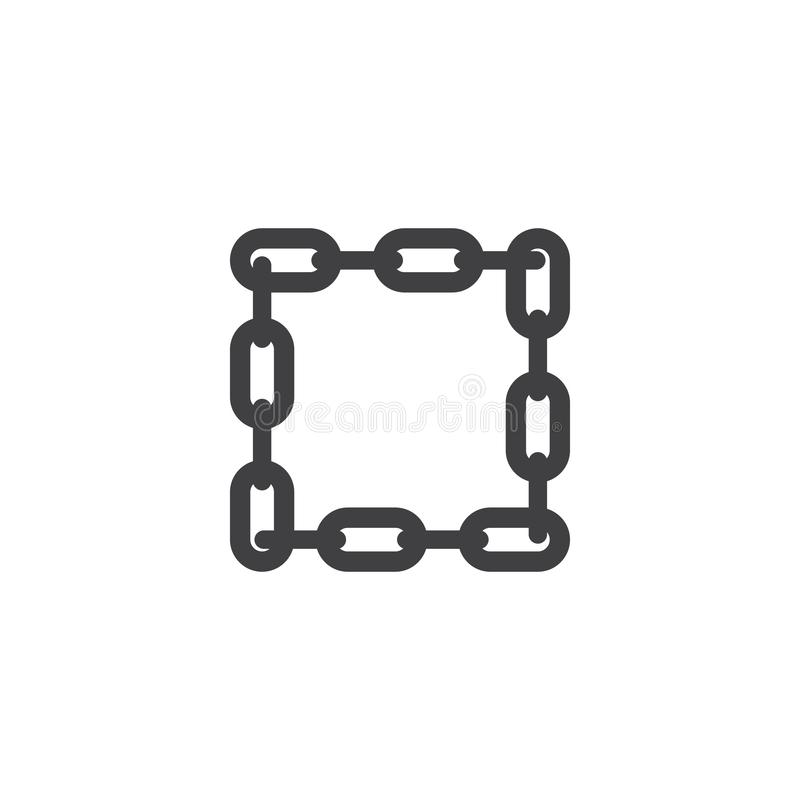 Chain graphic design template vector isolated illustration. Logo, icon, link, clipart, blockchain, connect, network, unusual, teamwork, interlink, unlink stock illustration