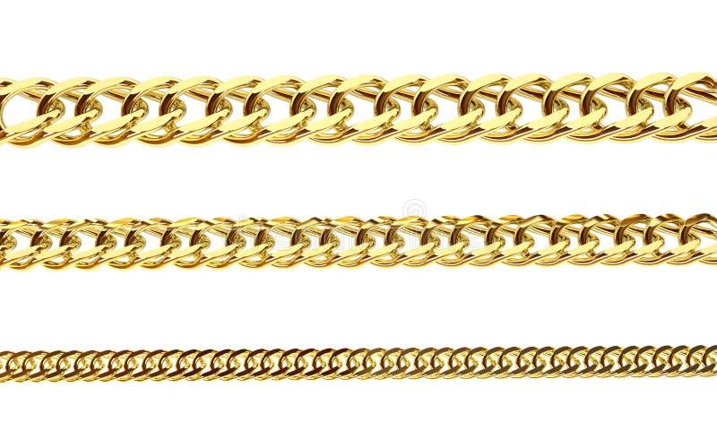 chain guld- arkivfoton