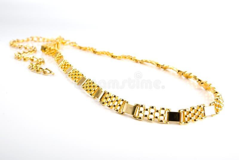 chain guld- royaltyfri fotografi