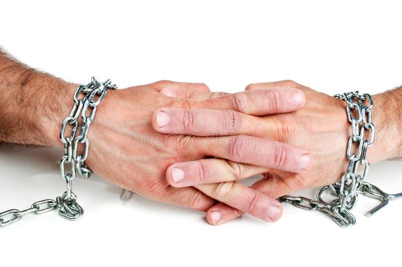 chain händer royaltyfria bilder