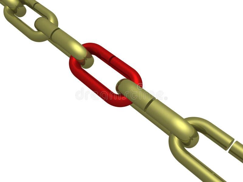 chain hänga royaltyfri illustrationer