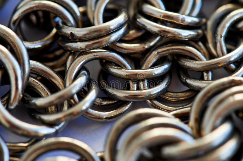 Chain heap - abstract metal background royalty free stock photography