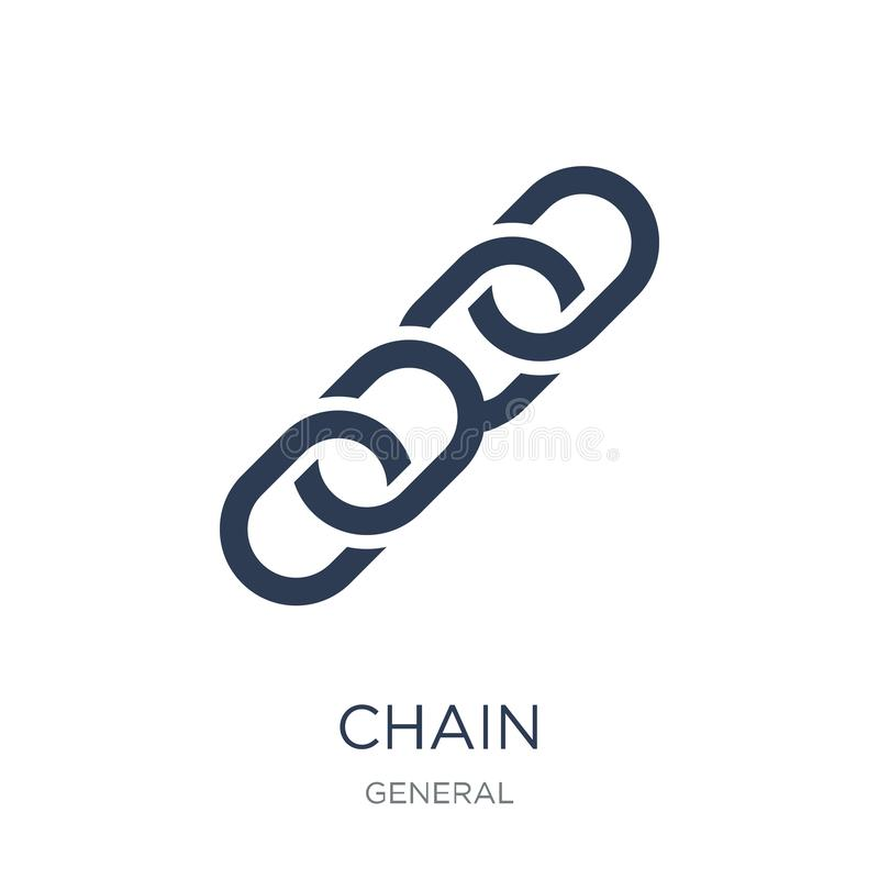 chain icon. Trendy flat vector chain icon on white background fr stock illustration