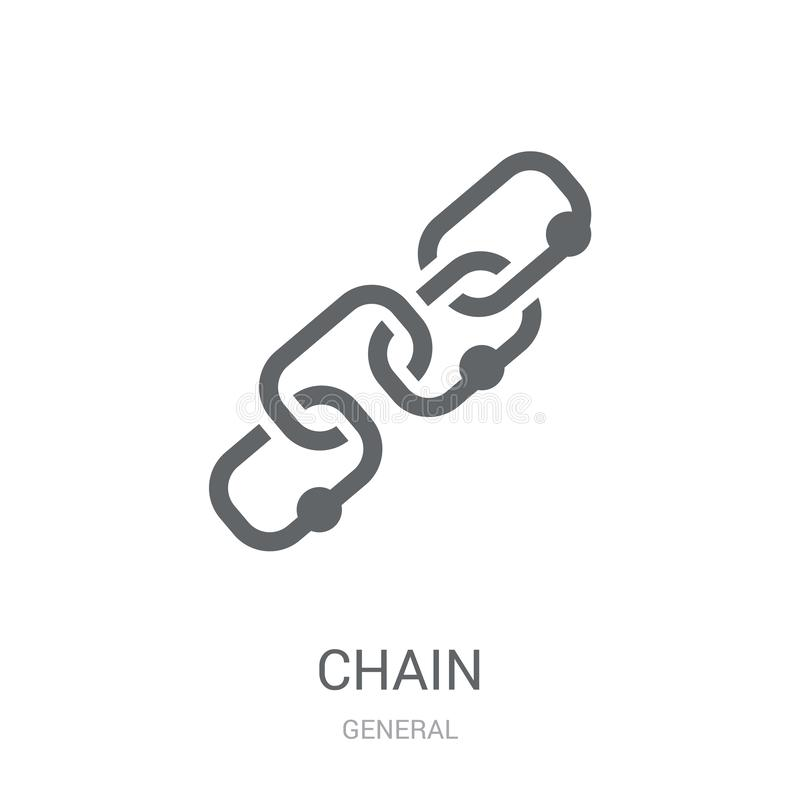 chain icon. Trendy chain logo concept on white background from G royalty free illustration