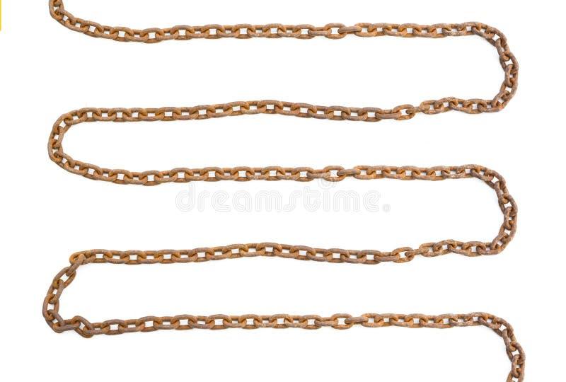 Chain isolerat rostigt arkivbild