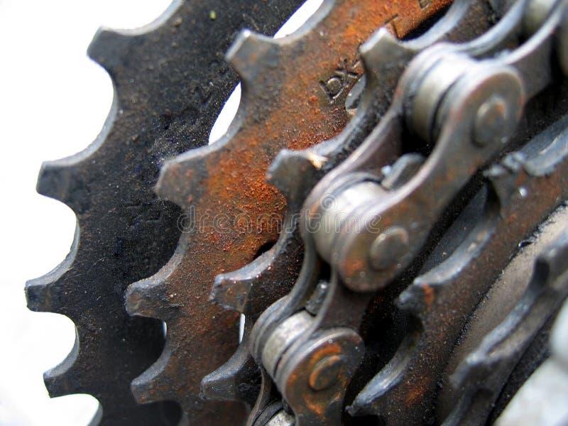 chain kugghjul arkivfoton