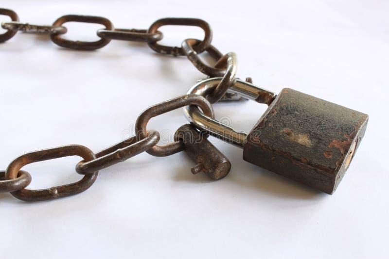 chain lås arkivbilder
