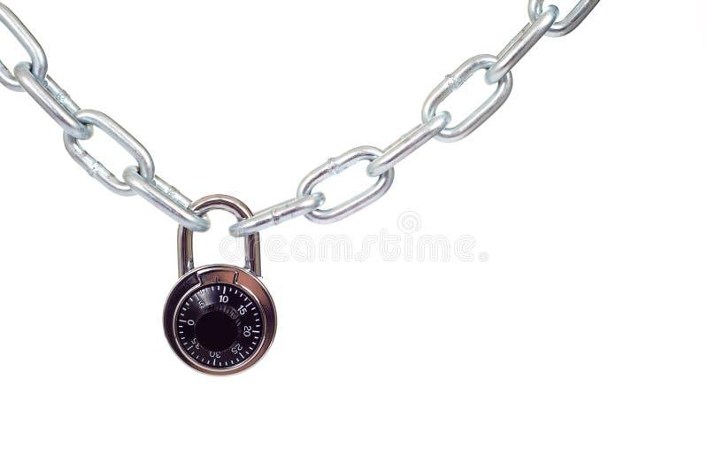 chain lås royaltyfri bild