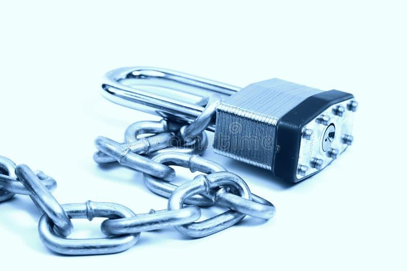 Chain Lås Arkivbild