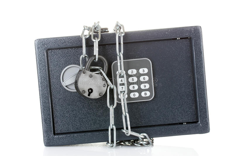chain låssafe royaltyfri fotografi