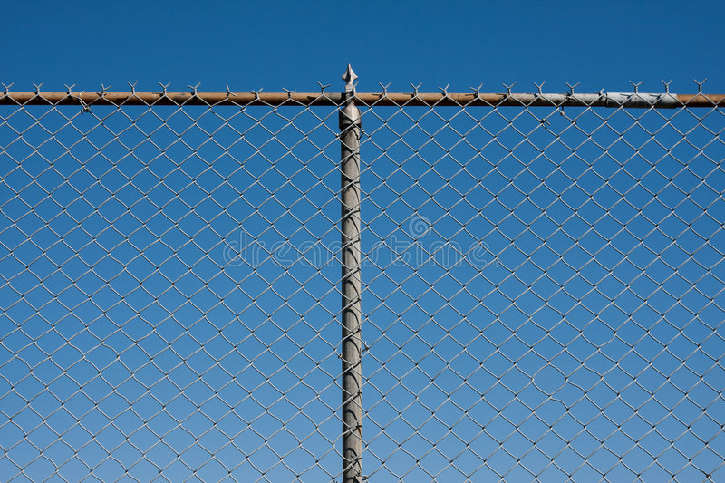 Download Chain link fence stock photo. Image of pattern, blue, fence - 8927046