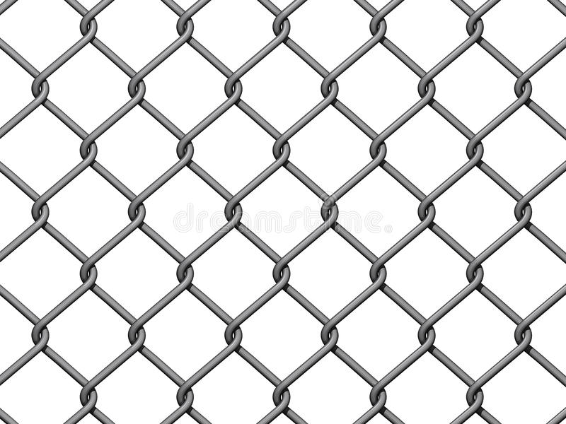 Chain Link Fence Background. On white background vector illustration