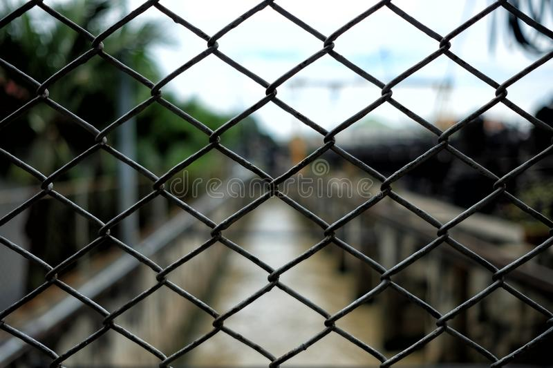 Chain Link Fence Background, Suitable for Presentation, Web Temple, Backdrop, and Scrapbook Making. Close up Chain Link Fence Background, Suitable for stock images