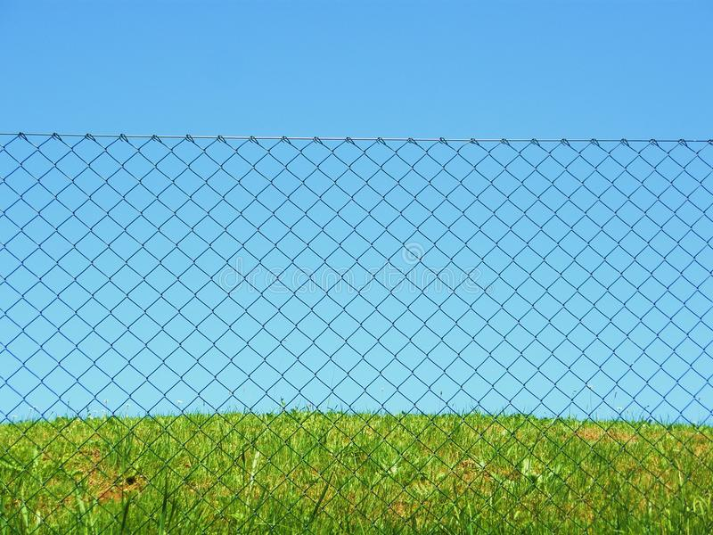 Download Chain link fence grass sky stock photo. Image of fresh - 19793176