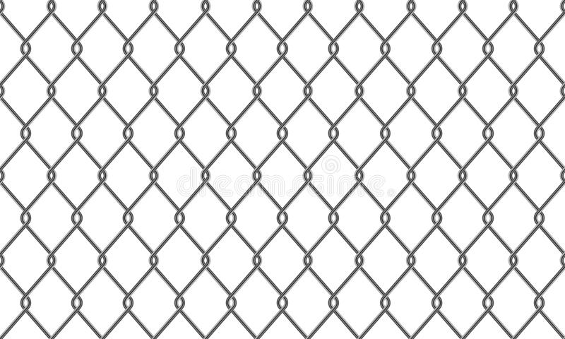 Chain-link fence or wire mesh pattern background vector illustration