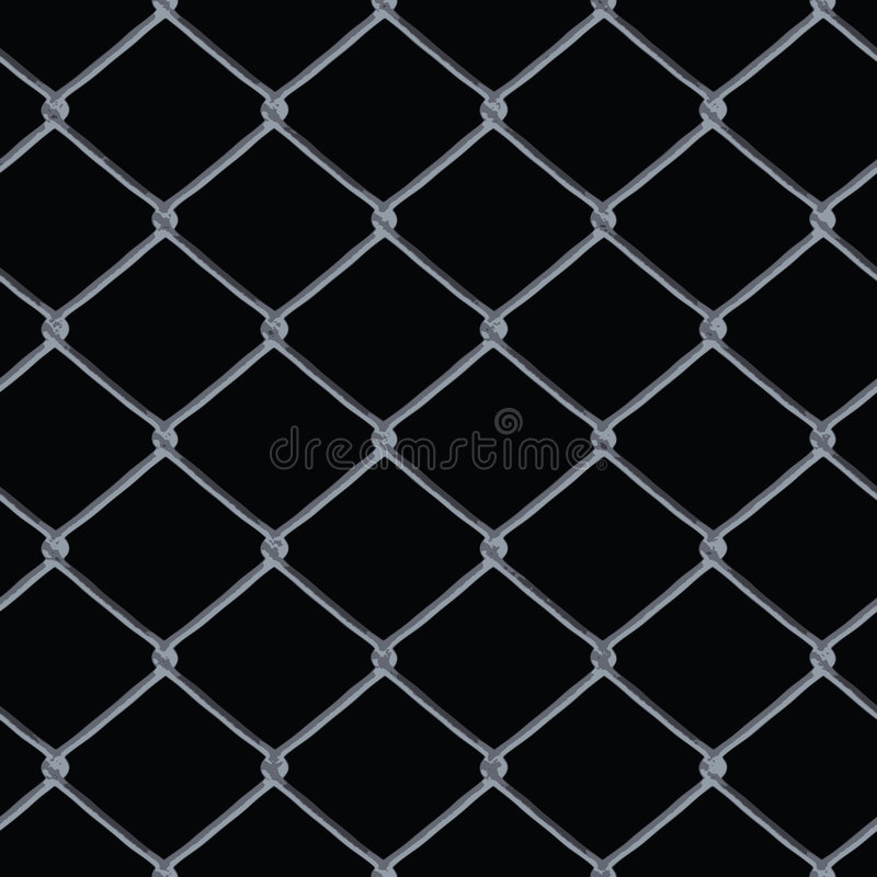 Chain Link Fence Vector vector illustration