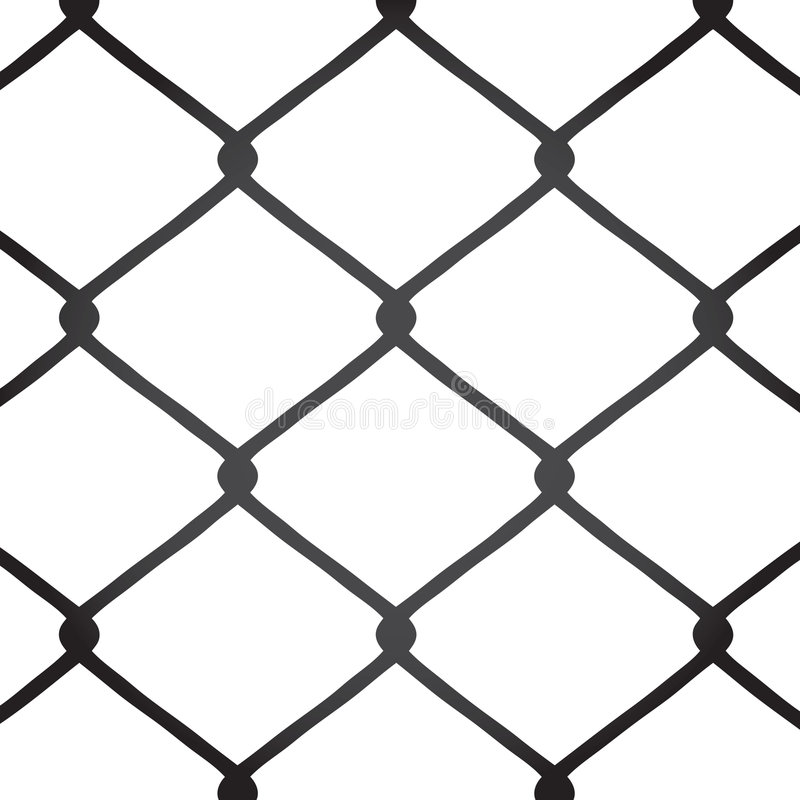chain link fence vector stock photo - image: 8434090