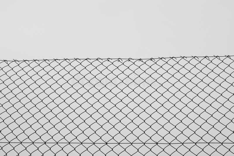 Chain Link Fence Wire Netting Stock Photo - Image of border, netting ...