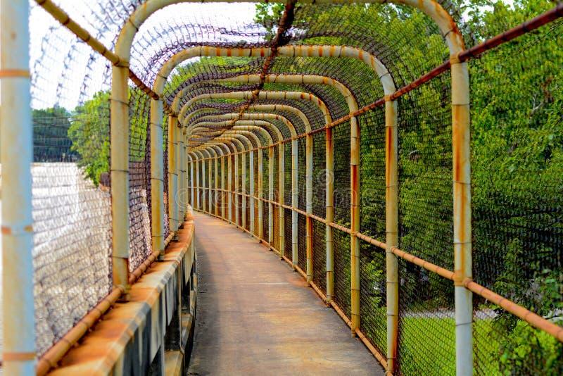 Chain Link Walkway stock images