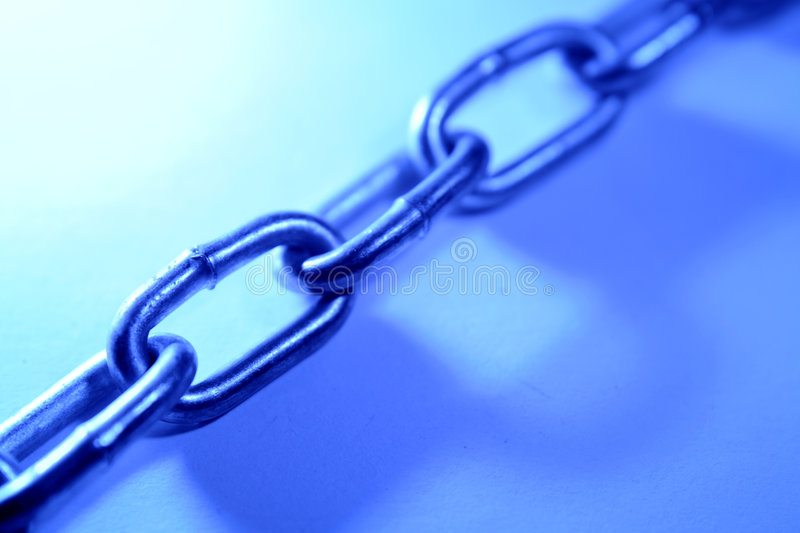 Chain links. Closeup of steel chain links royalty free stock photos
