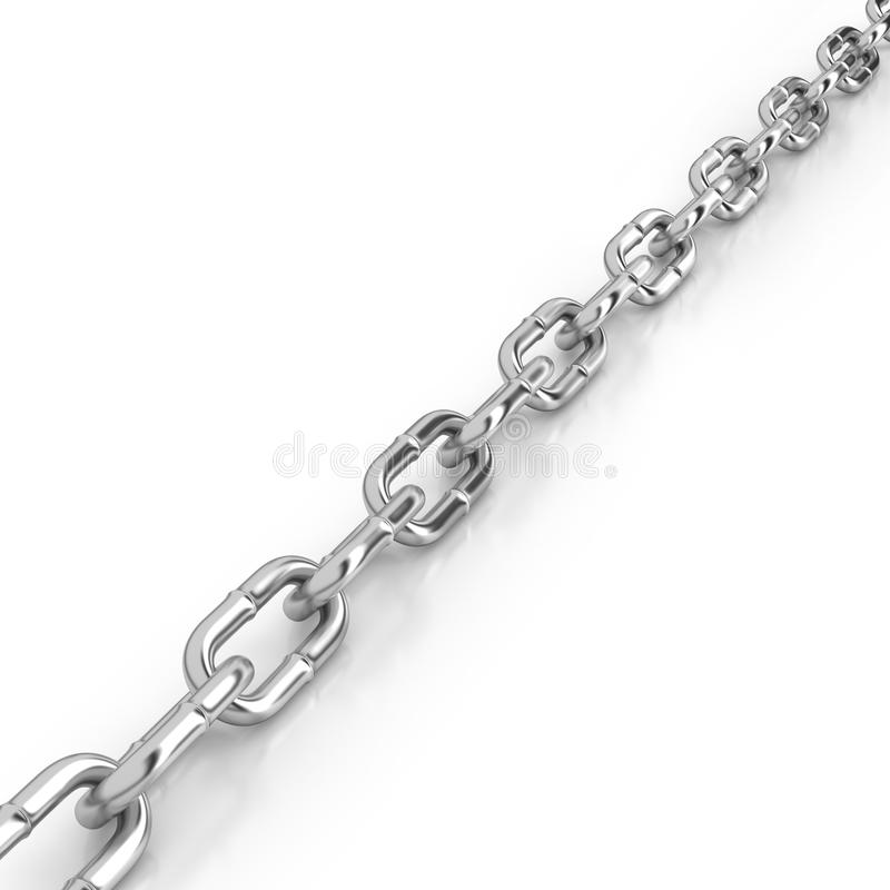 Chain links diagonally placed royalty free stock photography