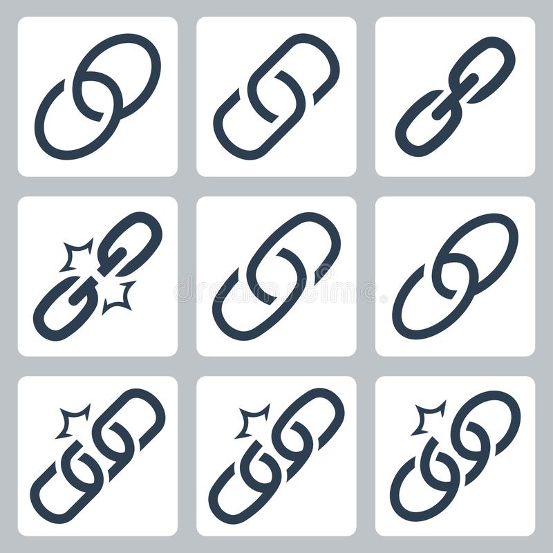 Free Chain Links Icon Set Royalty Free Stock Image - 164478086