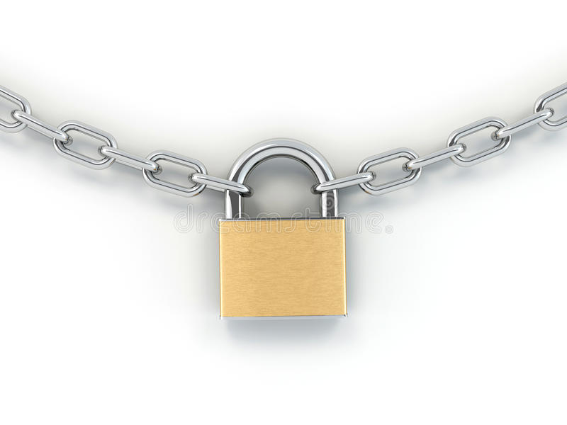 Download Chain with lock stock illustration. Image of protection - 14302023