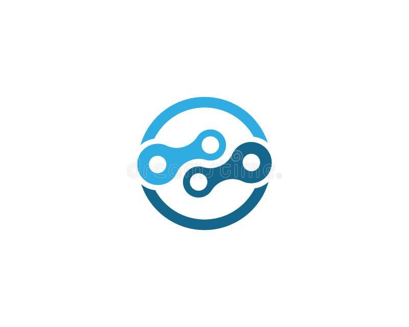 Chain logo design vector illustration