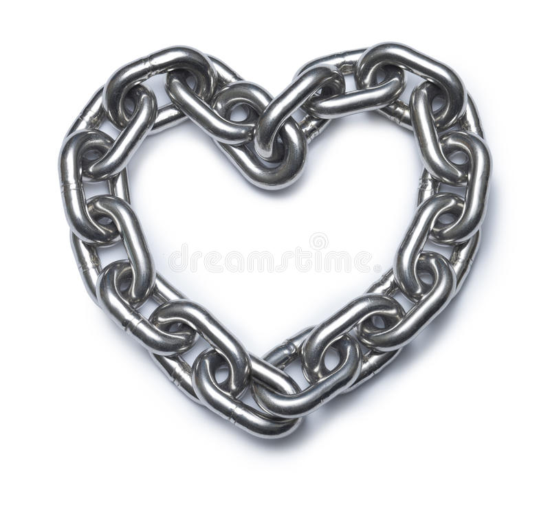 Chain Love Heart royalty free stock photography