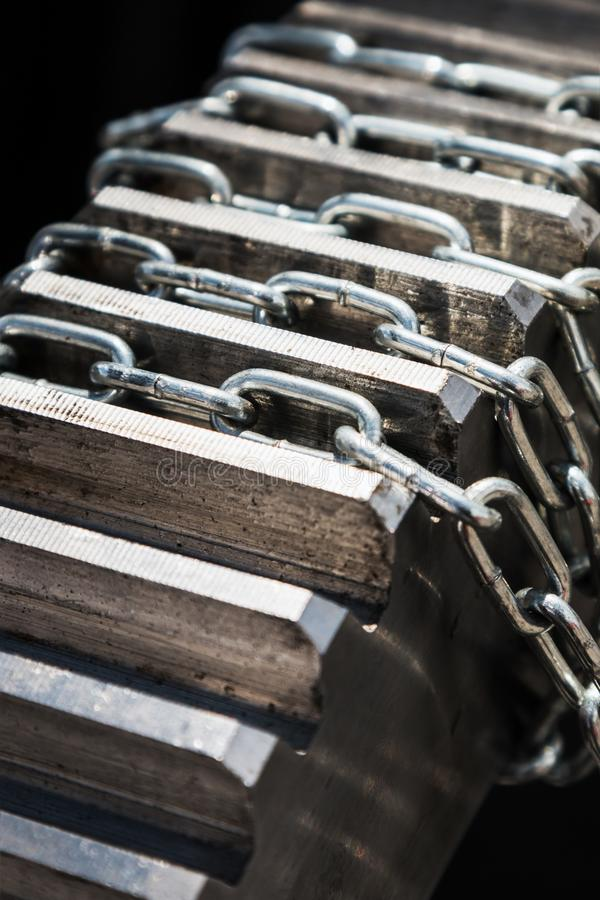 Chain and metal gears engine, gearbox stock images
