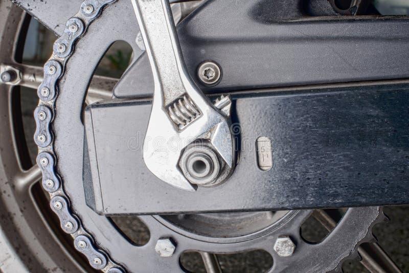 Chain motorcykel för överföring arkivfoton