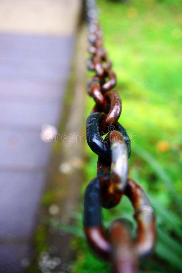 Chain in nature stock photos
