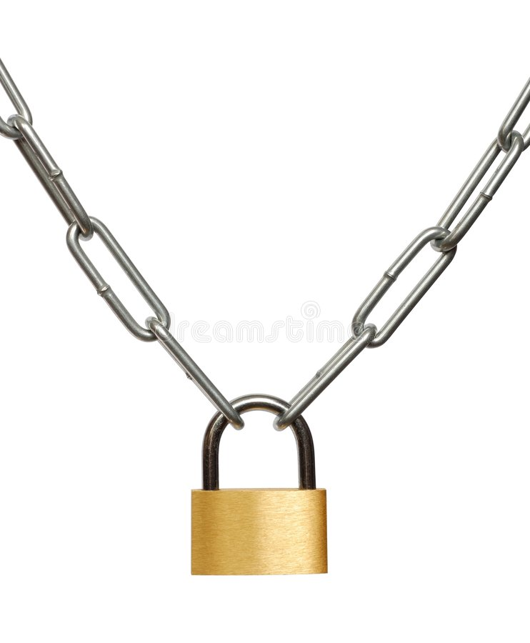 Download Chain and Padlock stock image. Image of locked, chain - 2310533
