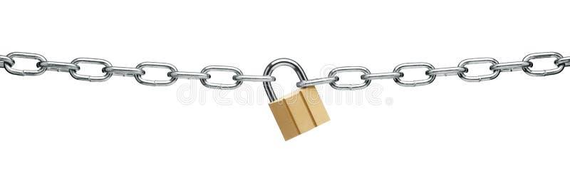 chain padlock royaltyfria bilder