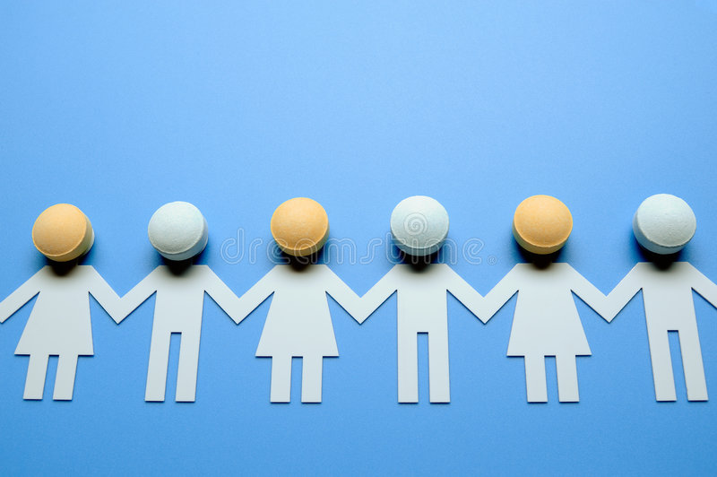Download Chain of paper figures stock photo. Image of care, global - 7921432