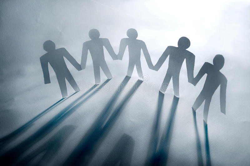Chain of people royalty free stock image