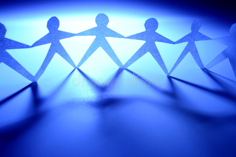 Chain of People royalty free stock images