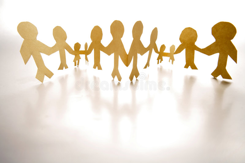 Chain of people royalty free stock photos
