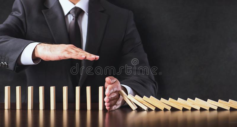 Chain Reaction In Business Concept royalty free stock photo