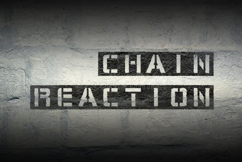 Chain reaktion gr arkivfoton