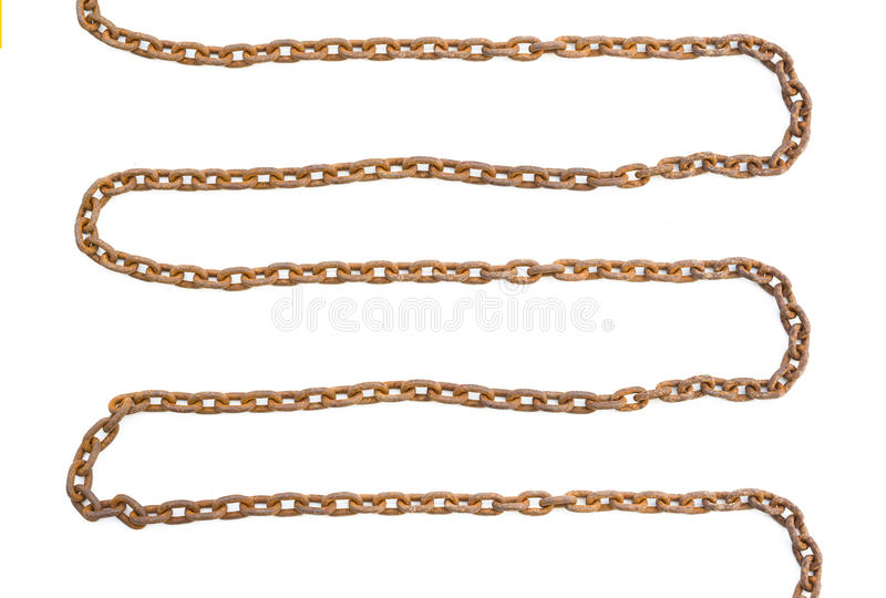 Chain rusty isolated stock photography