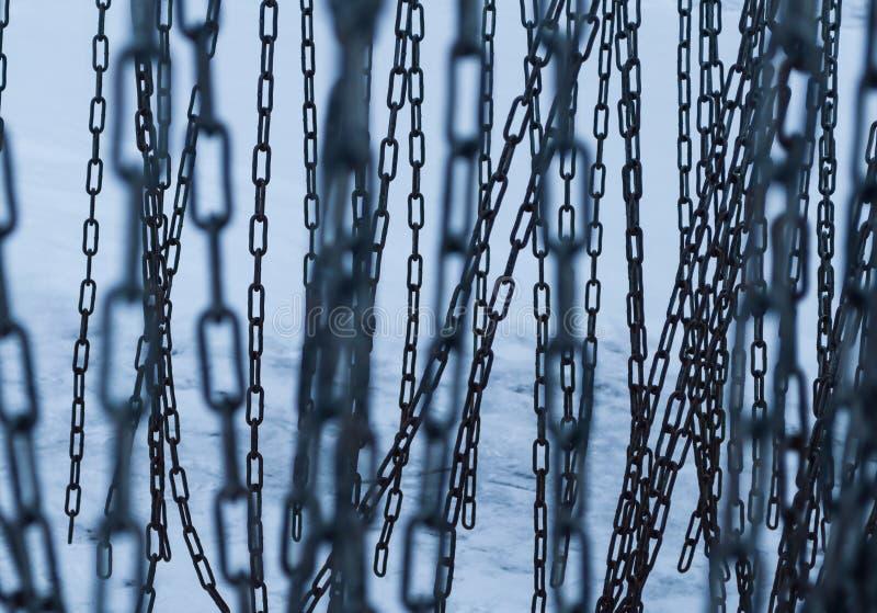 Chain sammanlänkningar Mycket kedjesammanlänkningar royaltyfri fotografi
