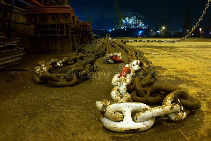 chain ship royaltyfri foto