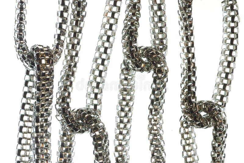 chain silver royaltyfri foto