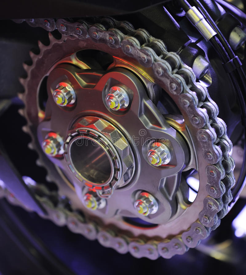 Download Chain Of A Sports Motorcycle Royalty Free Stock Photos - Image: 28024098