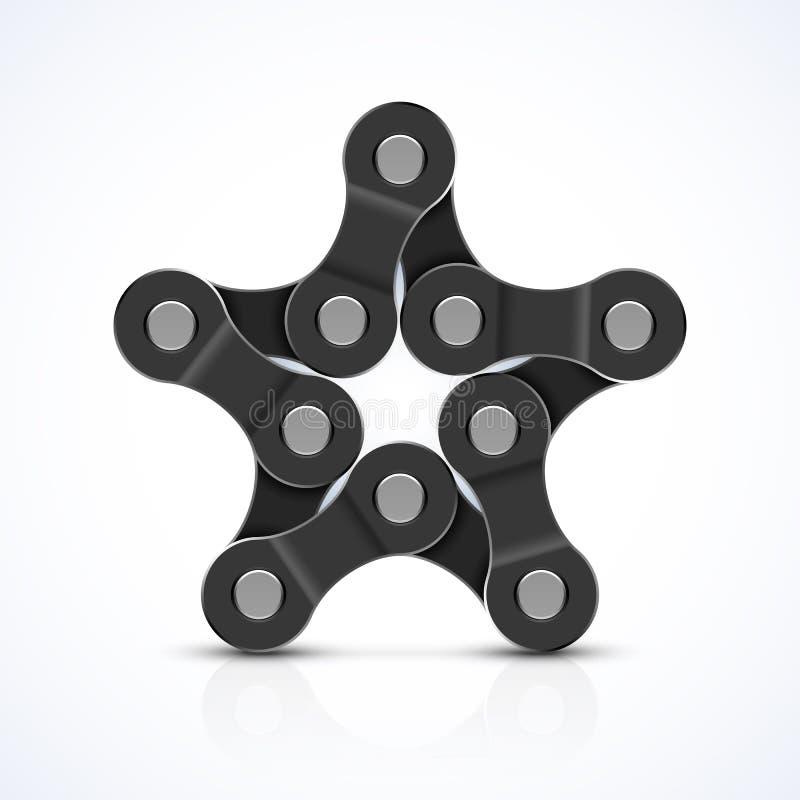 Chain stjärna för cykel royaltyfri illustrationer