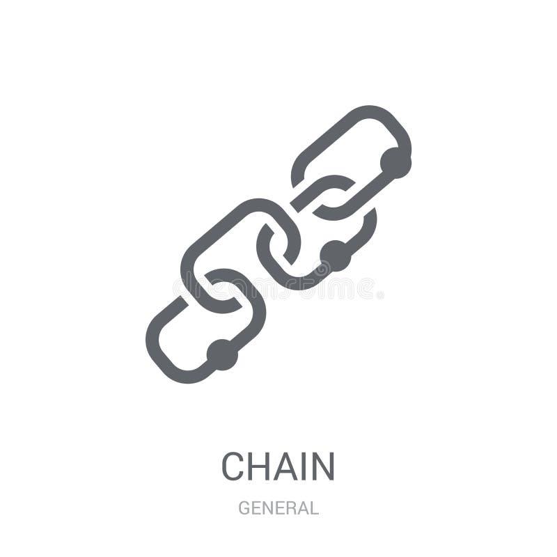 Chain symbol  royaltyfri illustrationer