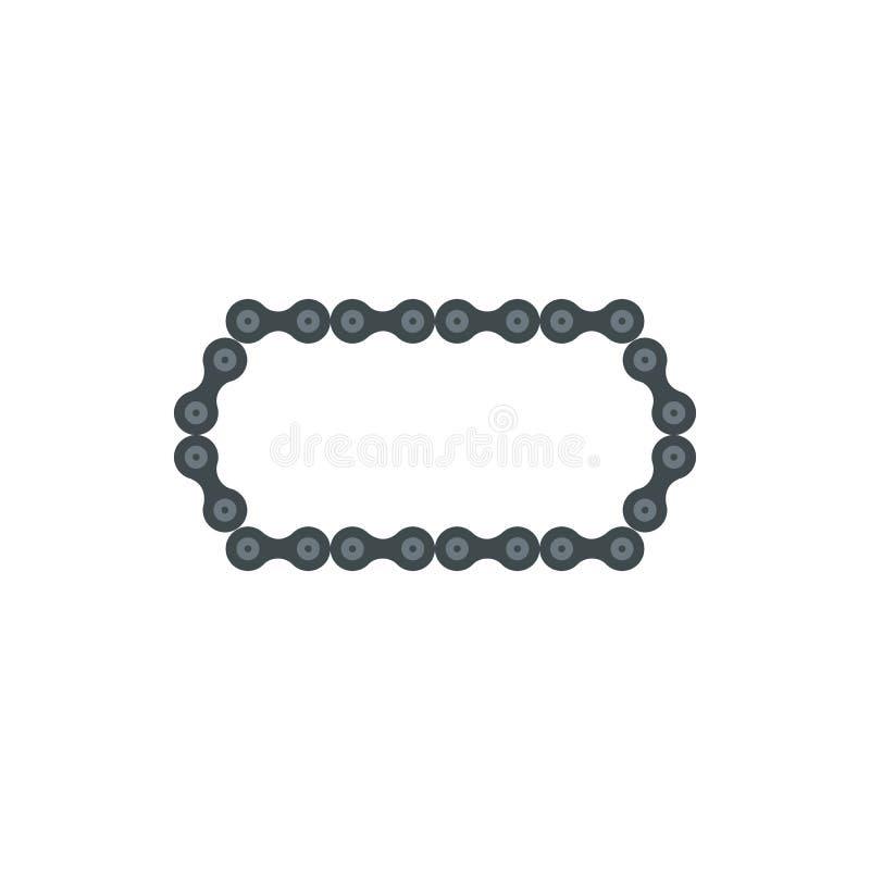 Chain symbol för cykel, lägenhetstil royaltyfri illustrationer